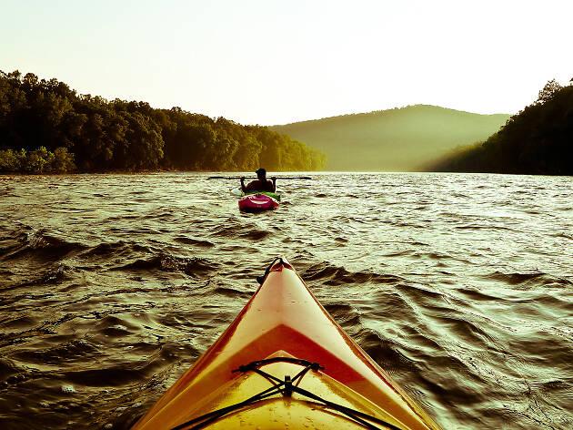 Kayaking on the Delaware River