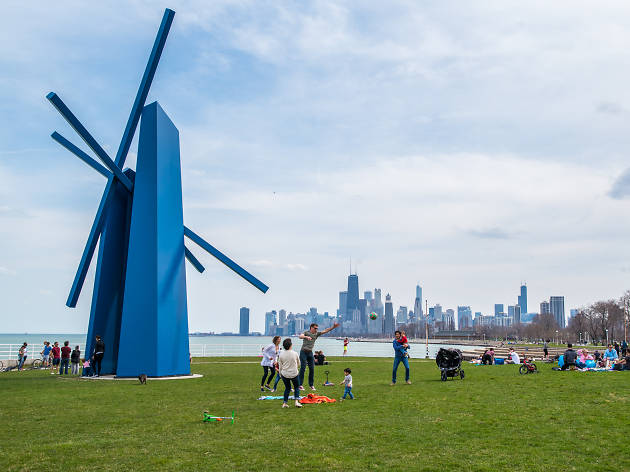 Lakefront Trail Chevron sculpture