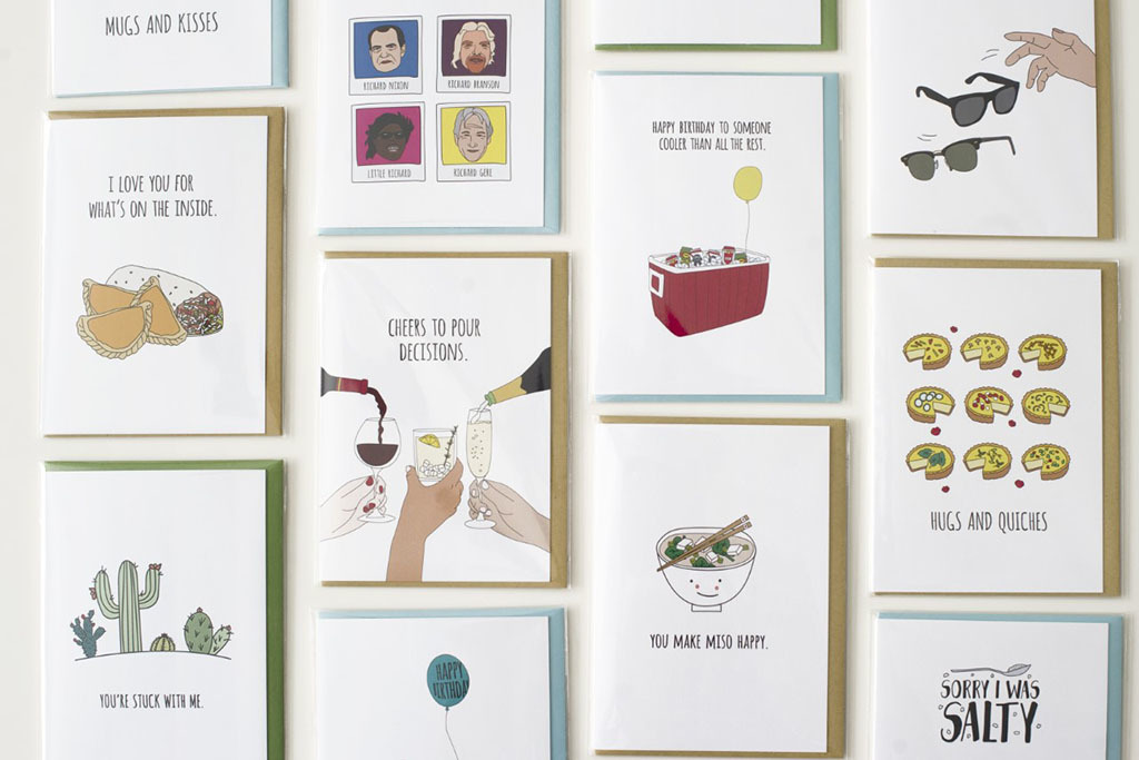 Collection of gifts and cards from Humdrum Paper, $100