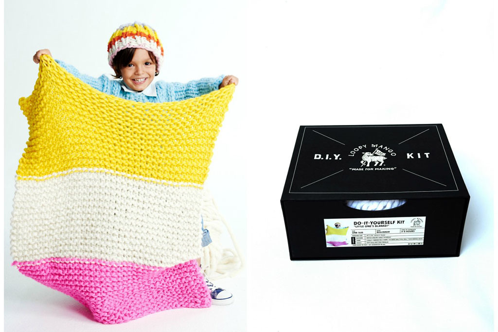 Little One's Blanket DIY kit from Loopy Mango, $124
