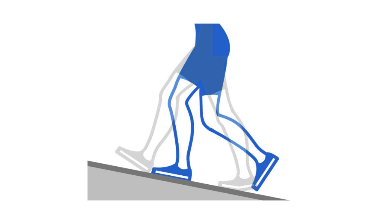 Caminata inclinada