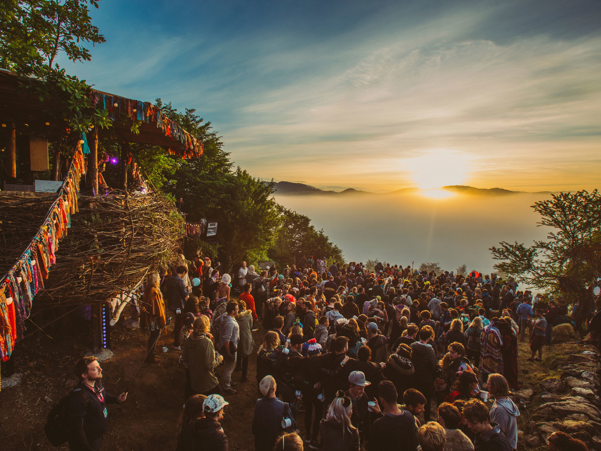 Rave on a Bulgarian mountain