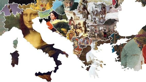 Els quadres més famosos d'Europa, en un sol mapa