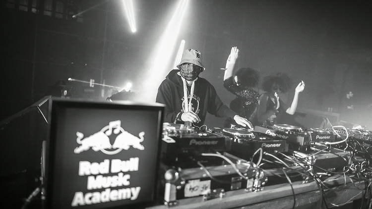 Moodymann performs at the Red Bull Music Academy stage during the Nuits Sonores Festival in Lyon, France on May 15th, 2015. // Gilles Reboisson / Red Bull Content Pool