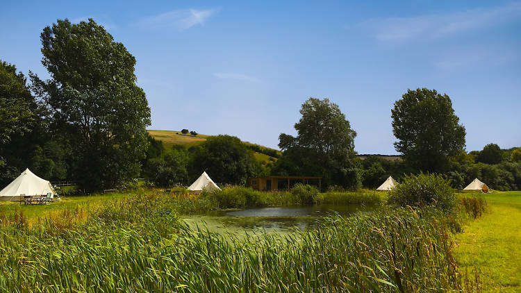 Chalke Valley Camping, Wiltshire, best campsites near London, 2017