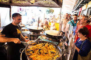 SImply Spanish paella, south melbourne market