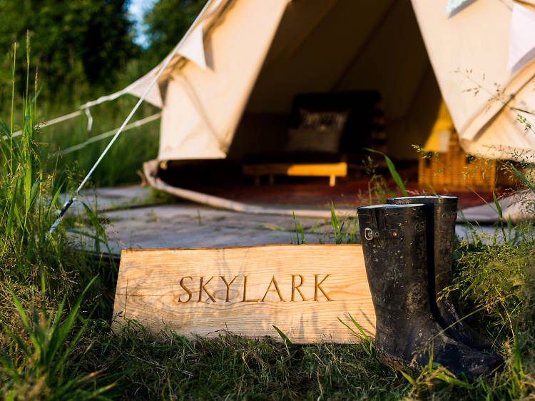 Chalke Valley Camping, Wiltshire
