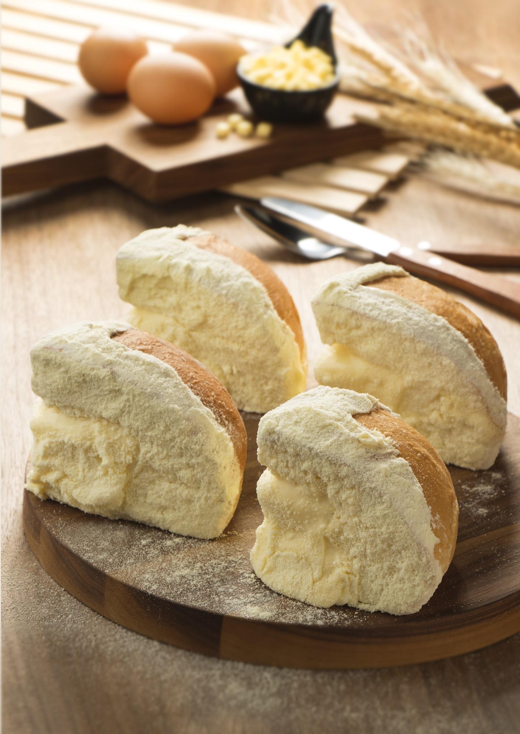 Austrian cheese bun at Guschlbauer