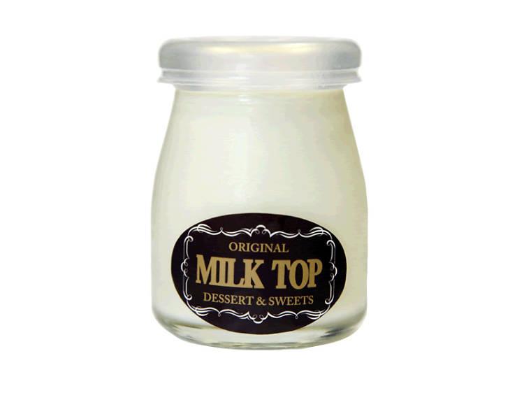 Hokkaido milk pudding at Milk Top
