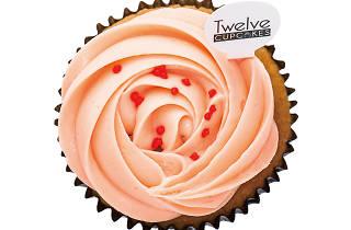 Rose lychee cupcake twelve cupcakes