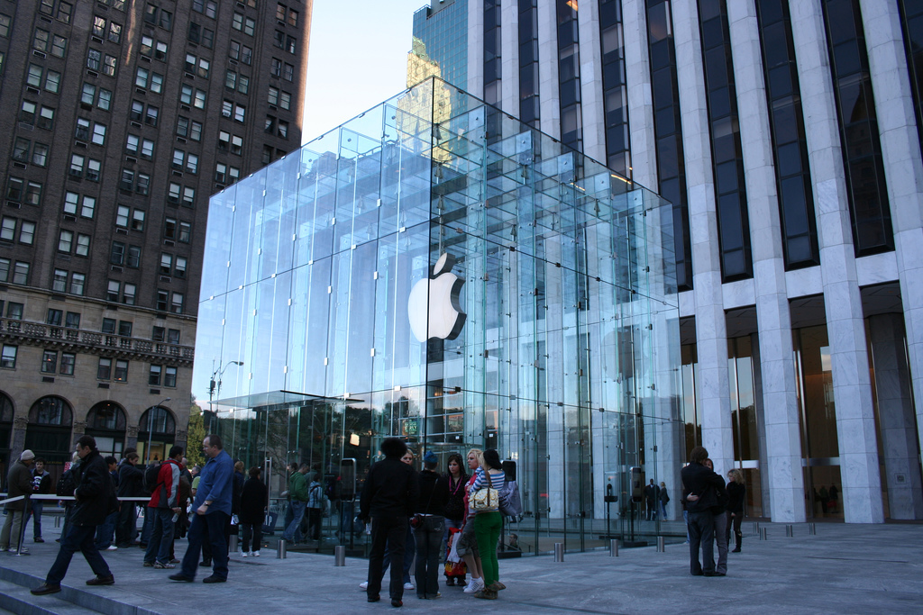 The glass cube outside Apple's flagship store is coming down