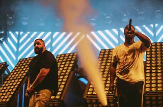 DJ Khaled and A$AP Ferg at Coachella Weekend 1