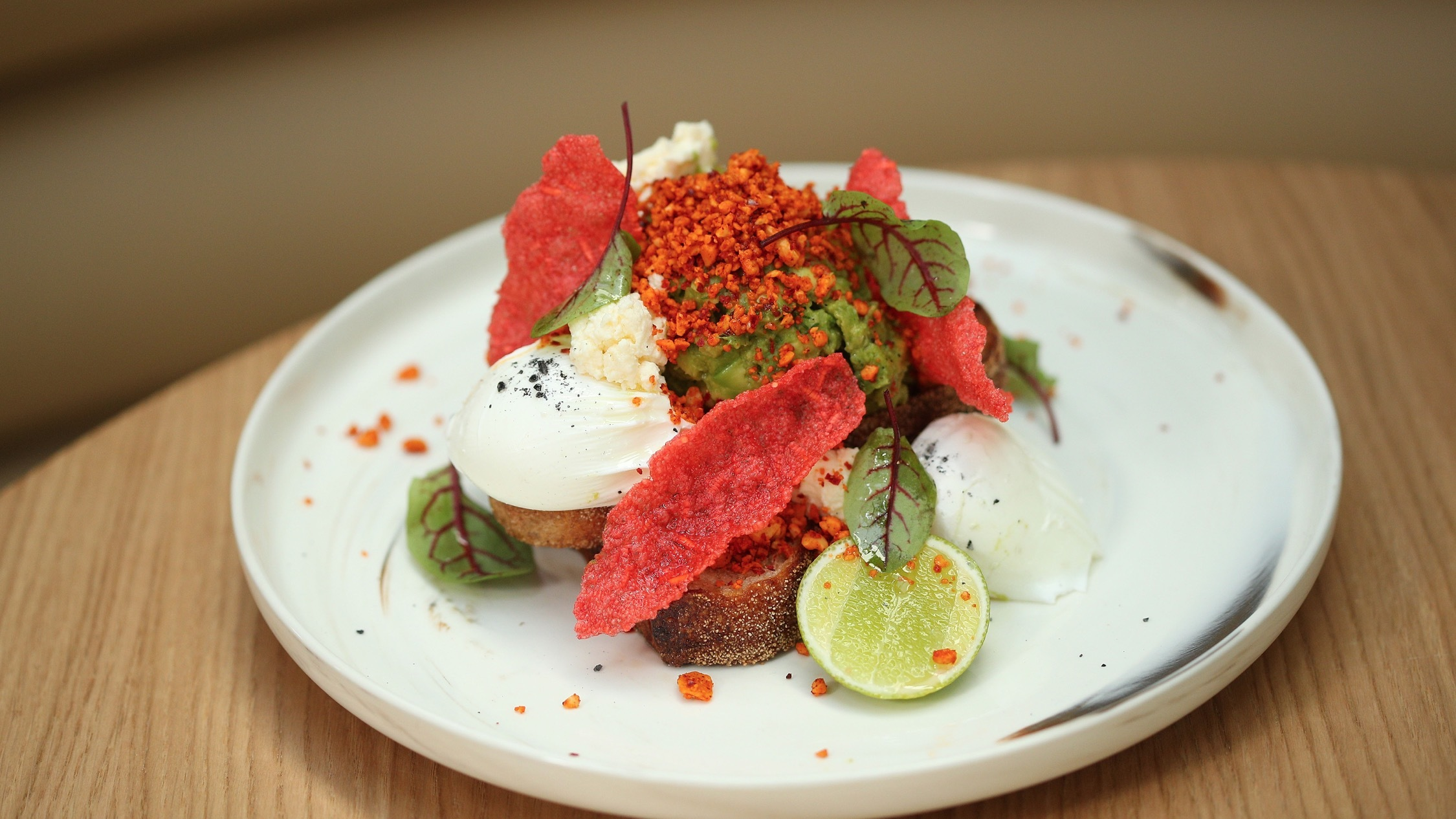 Poached egg on toast at AU79