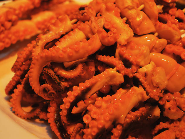 octopus tentacles street food