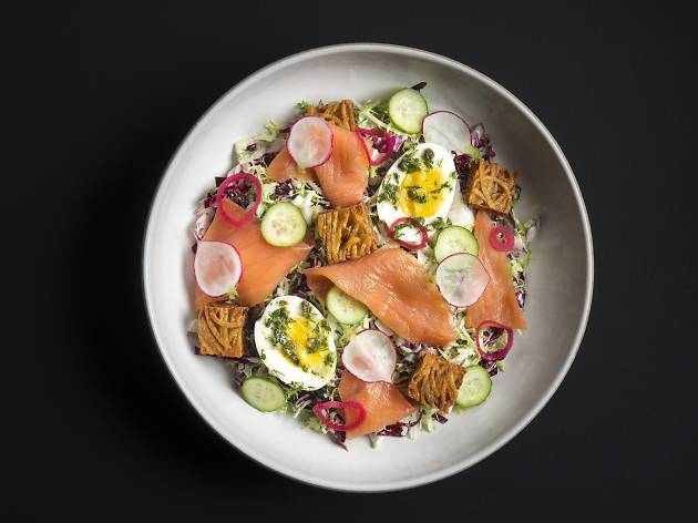 <p>Salmon rosti at Made Nice&nbsp;</p>