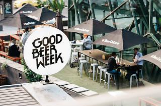 Commercial Good Beer Week sign Beer DeLuxe