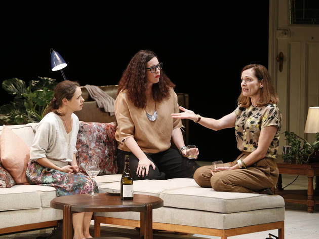 Three Little Words 2017 Melbourne Theatre Company production still 01 feat Kate Atkinson Katherine Tonkin Catherine McClements photographer credit Jeff Busby