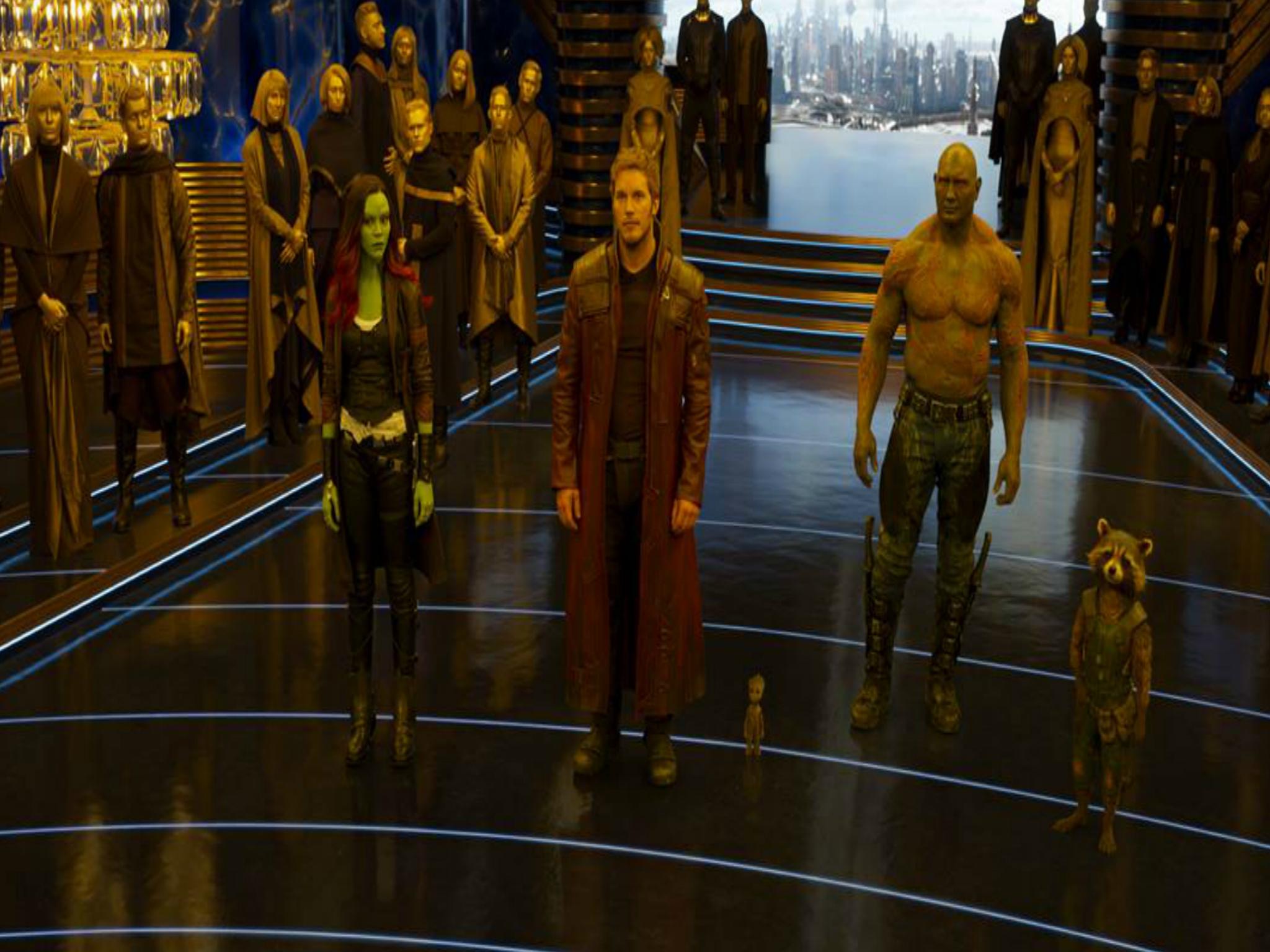 Fotograma de los personajes de Guardianes de la galaxia