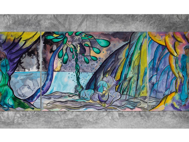 (Chris Ofili, Weaving Magic, copyright the artist, courtesy the artist, Victoria Miro Gallery and The National Gallery)