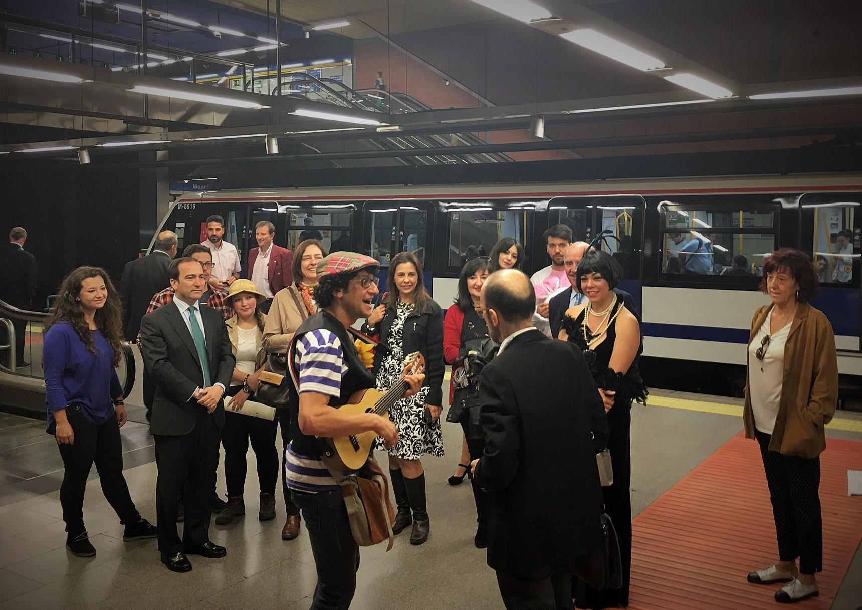 El microteatro invade el metro de Madrid