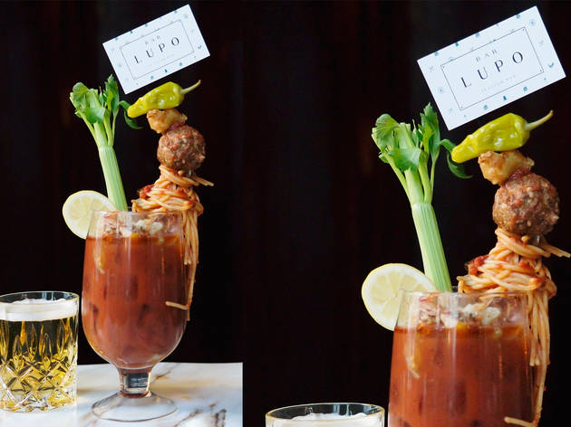 Spaghetti and Meatball Bloody Mary at Bar Lupo