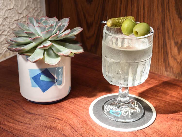 Steakhouse martini at Diamond Reef