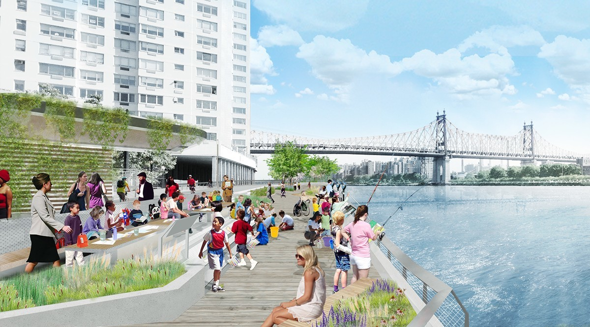 A new waterfront park is coming to the East Side of Manhattan