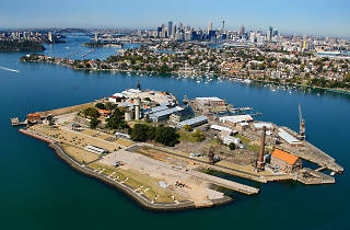 Cockatoo Island Aerial view