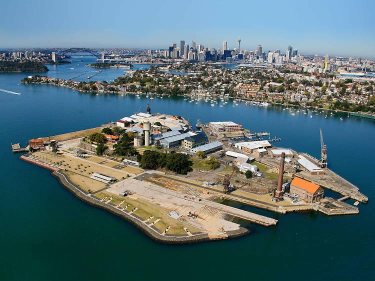 Take a ferry to Cockatoo Island