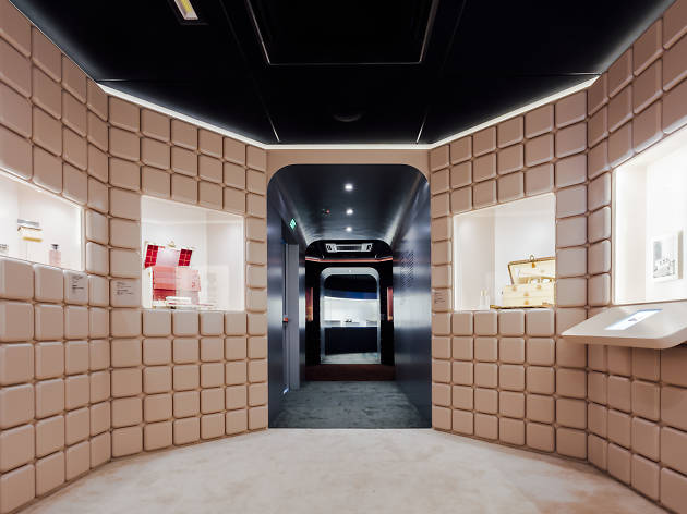 Louis Vuitton Time Capsule exhibition interior