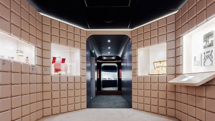 Louis Vuitton Time Capsule exhibition interior