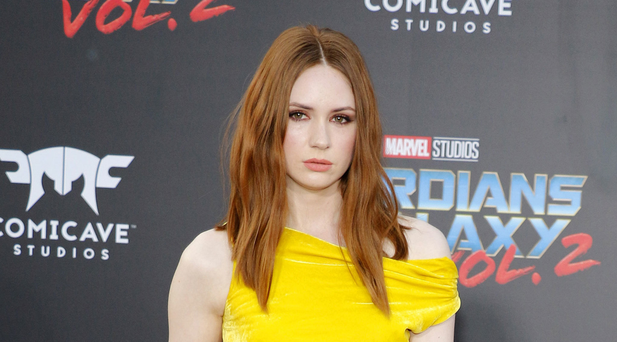Karen Gillan on shaved heads, skimpy outfits and being scared of stunts