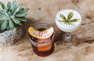 Two of Jason Eisner's CBD cocktails