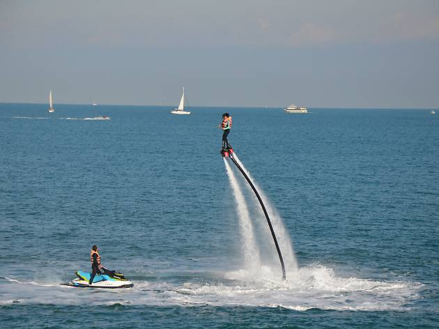Flyboarding and wakeboarding