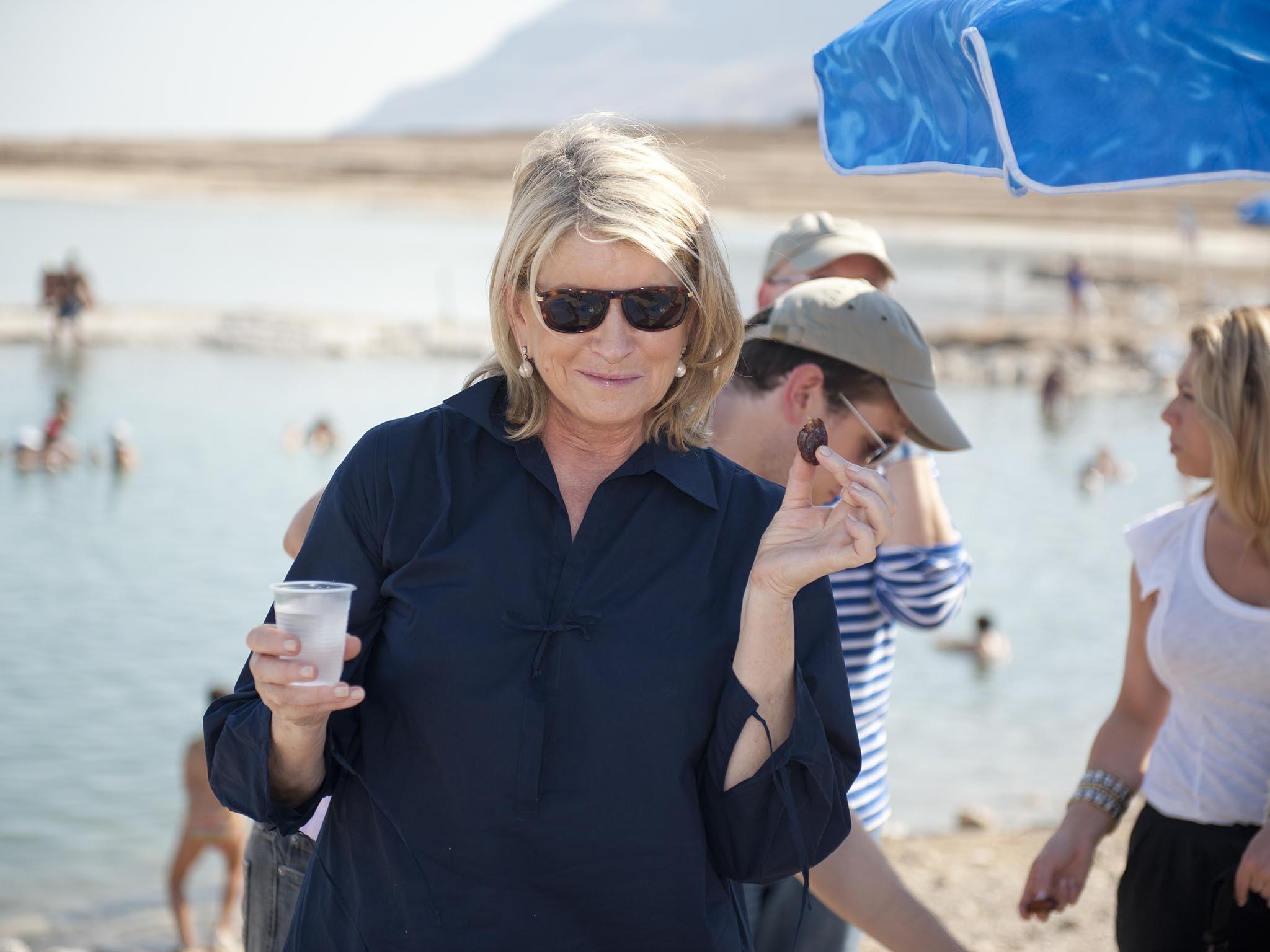 Martha Stewart Visits Dead Sea