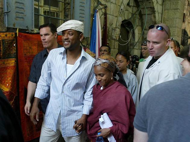 American actor and singer Will Smith visit the Jerusalem's Old City