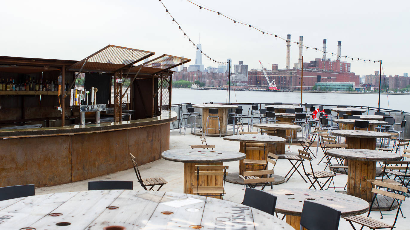 A floating bar is opening on the Greenpoint waterfront this Thursday