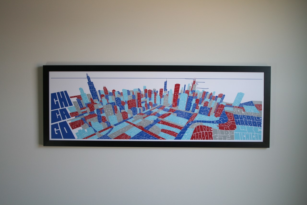 Joe Mills Chicago skyline prints