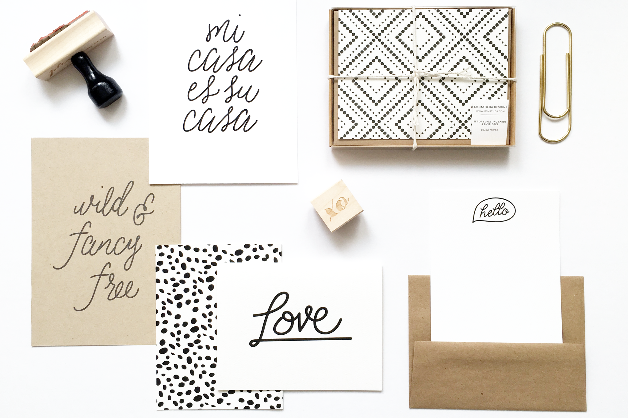 Ms. Matilda Designs paper goods