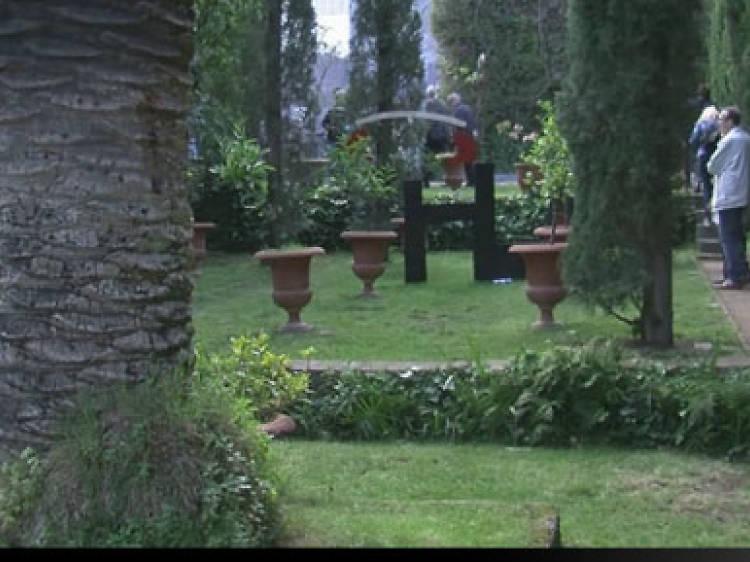 Els jardins de darrere el monestir