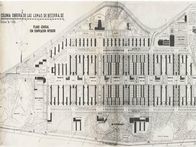 Plano del Conjunto habitacional Lomas de Becerra