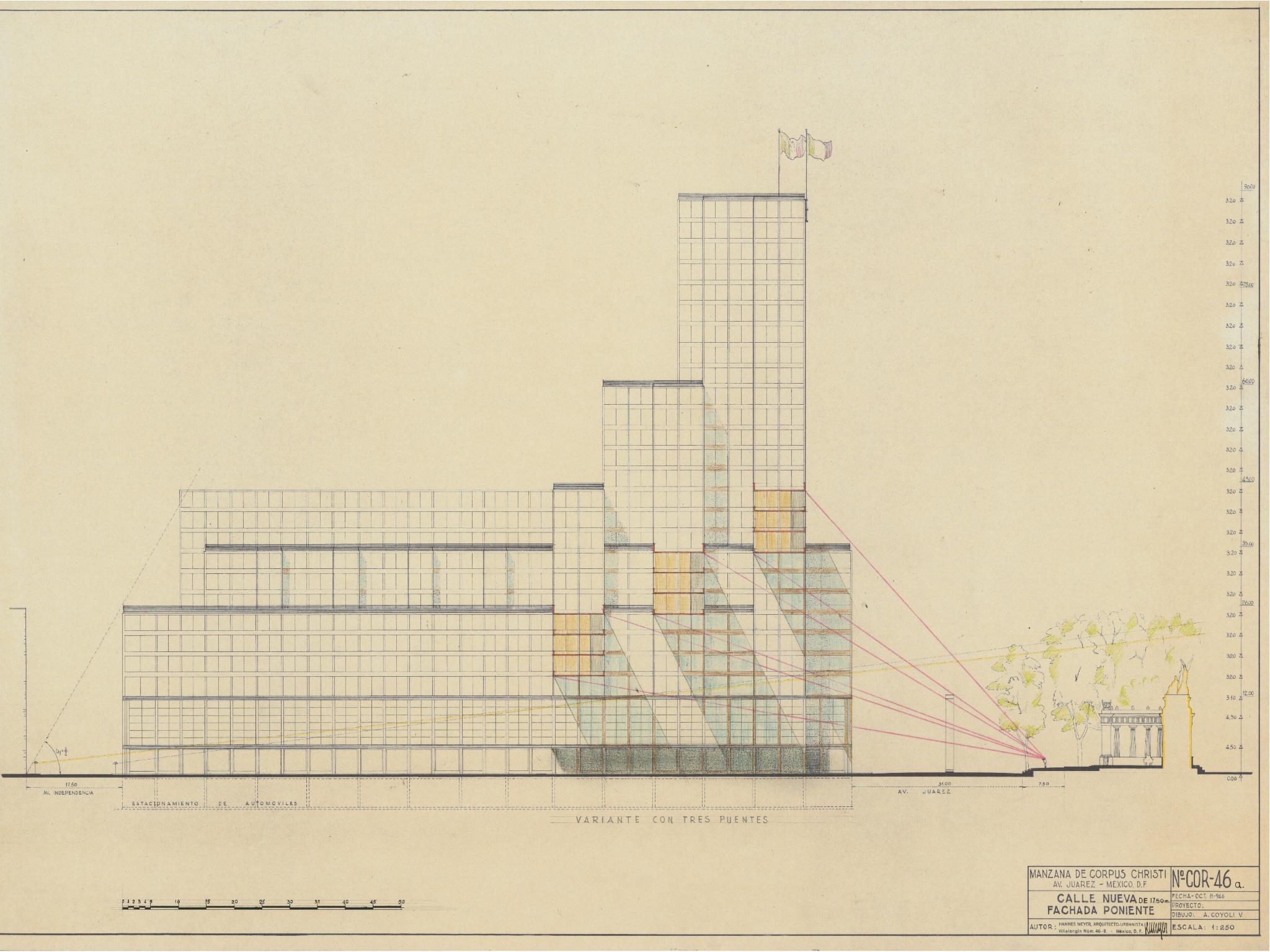 Plano arquitectónico de la Manzana de Corpus Christi
