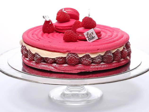 Luxbite Raspberry macaron cake