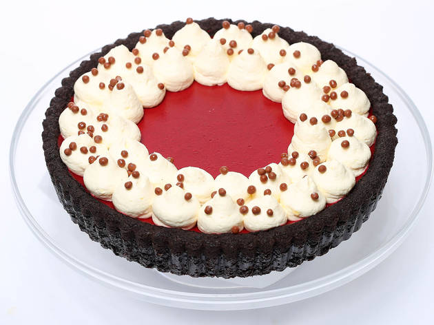 Candied Bakery: Red velvet cheesecake pie