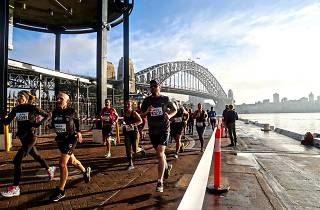 Runners at Circular Quay