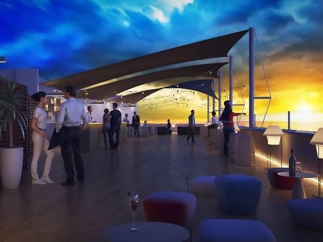 El Café del Mar de Barcelona a punt per a la inauguració