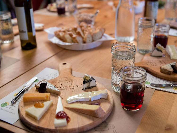 Cheese class at Antonelli's
