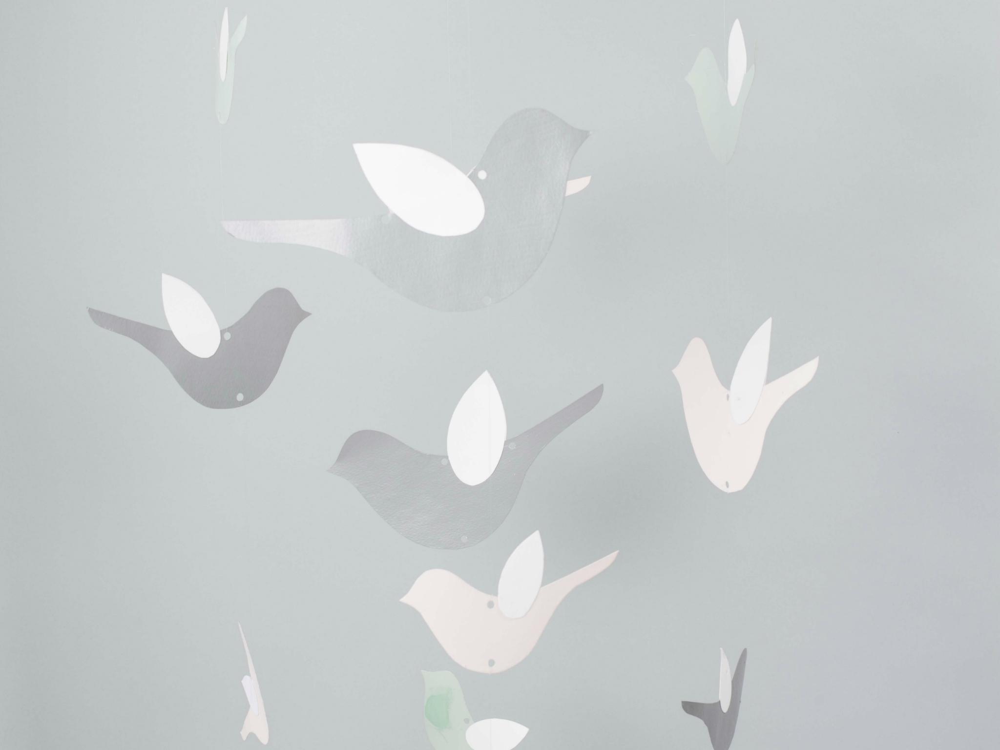 Móvil de pájaros