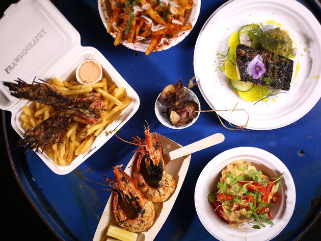 london's best street food, prawnography