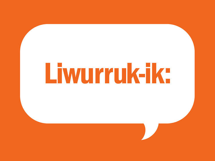 Liwurruk-ik: Asking a person if she is a sister to say, Ben
